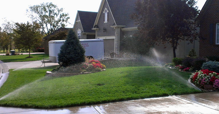 Lawn Care Kansas City Watering Grass