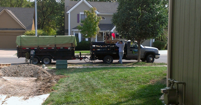 Residential Lawn Care Kansas City Project