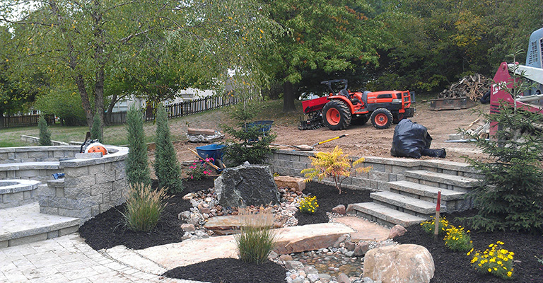 Commercial Lawn Care Kansas City Mulching Property