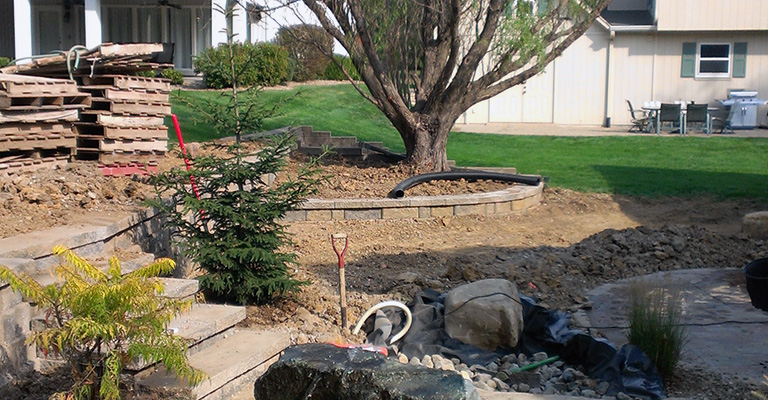 Lawn Care Kansas City Landscaping Project