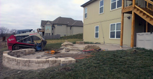 Residential Lawn Care Kansas City Project With Red Tiles And Grass